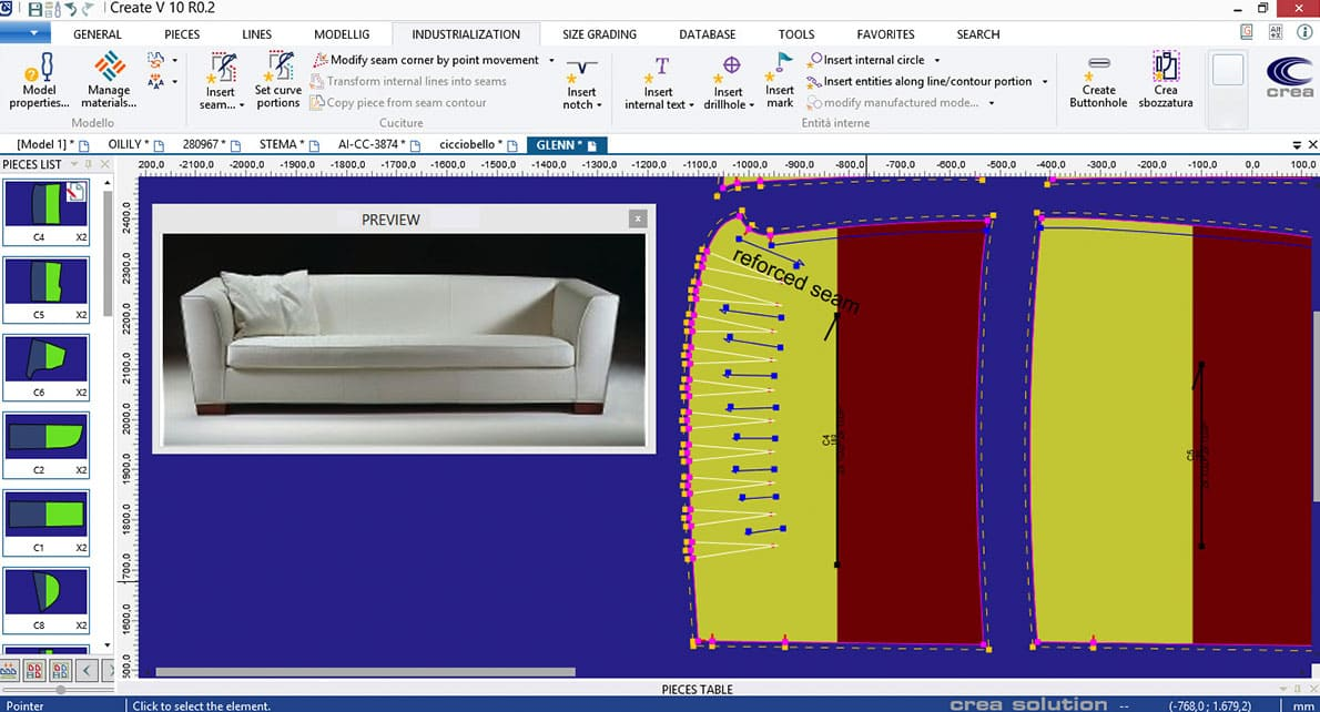 It Is Possible To Import Directly Into The Program Other Formats, So That  Editing Patterns Realized With Other CAD Software Is Easy And  Straightforward.