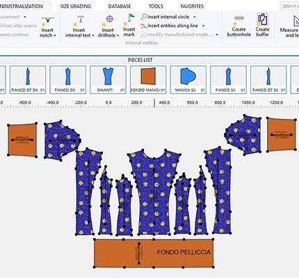 Sviluppo Pelliccia CAD Modellistica